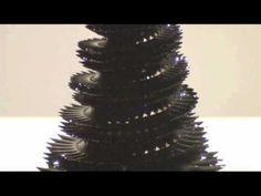 "Sachiko Kodama's original ferrofluid sculpture ""Morpho Tower"" 2005."