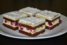 Cakes by Rebeca: Prajitura cu visine si cocos Hungarian Desserts, Romanian Desserts, Hungarian Recipes, Fruit Recipes, Cookie Recipes, Dessert Recipes, Cream Cheese Bread, Homemade Crackers, Croatian Recipes