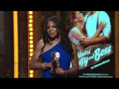 Audra McDonald of The Gershwins' Porgy and Bess accepting a Tony Award during the 2012 Tony ceremony.