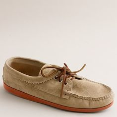 A boat shoe with Quoddy moccasin style. And the orange outsole is just plain neat.
