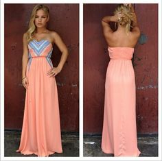 Love the long style dress, love the color and all the details! <3 Great for the summer
