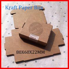 50pcs/lot Free shipping 350gsm kraft paper box nice kraft box plain kraft…