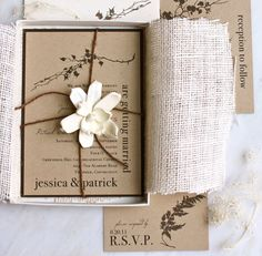 These fantastic invitations from Etsy gave me great inspiration for making my own wedding invites!