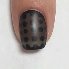 Sheer polka dot tutorial! In the beginning you see how I made my own sheer black polish