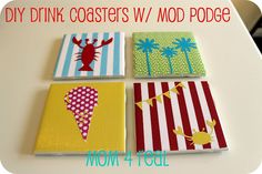 A tile-as-a-coaster tutorial, step by step, from Mom4Realky.blogspot.com