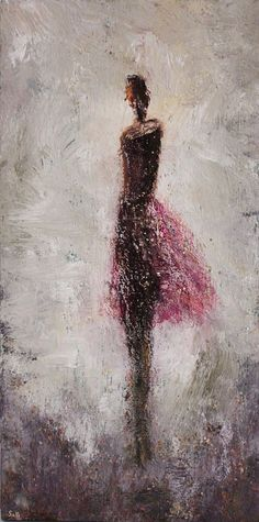 textured figurative dancer