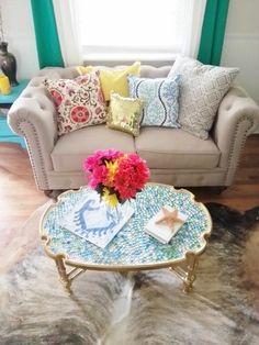 Hometalk :: $40 Coffee Table Got a Bright New Look!