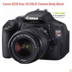Grab Canon EOS kiss X5 camera from TipTop Electronics for good quality pictures with large size sensor of about 18 million pixels of single-lens reflex camera