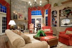 Swags on arched boards - Lori Levine Interiors, Inc.
