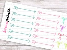 24 ARROWS and BOWS Repositionable Stickers Perfect by keenaprints