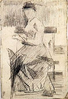 Seated Woman - Georges Seurat, 1881