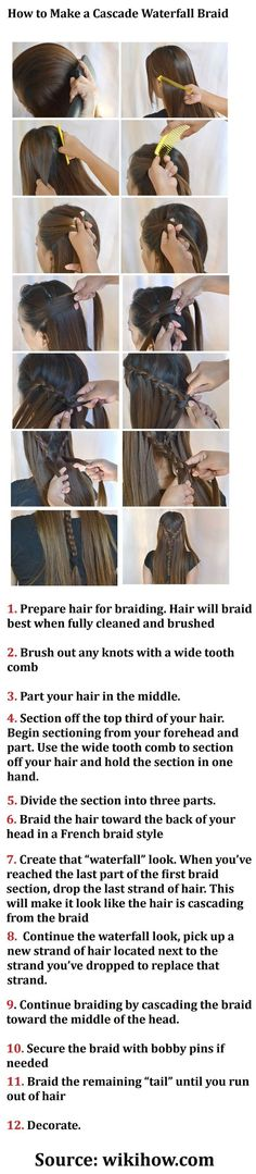 Waterfall Braid Tutorial Step By Step: How Do You Do A Waterfall Braid Hairstyle