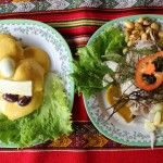 Ceviche and Papas a la Huancaína – two Peruvian classics the students prepared and ate. Wild Game Recipes, Gluten Free Rice, Canned Tomato Sauce, How To Can Tomatoes, Ceviche, Serving Size, 4 Ingredients, How To Dry Basil