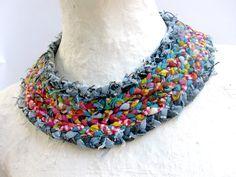 womens jewellery from recycled denim/neck bib - Google Search