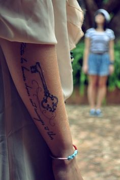 Key Tattoos (SMALLER VERSION WITH KIDS INITIALS)