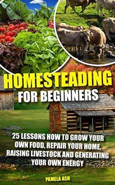 Homesteading for Beginners: 25 Lessons How To Grow Your Own Food Repair Home Raising Livestock And Generating Energy (Homesteading Books Homesteading ... Homesteaders Backyard homestead) by [Ash Pamela]  https://www.amazon.com/Homesteading-Beginners-Livestock-Generating-Homesteaders-ebook/dp/B01I9U00BG?ie=UTF8&redirect=true#nav-subnav  https://www.facebook.com/PreppingMeansPrepared/