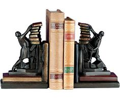 Standing Librarian Bookends   Making Book Ends Meet