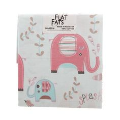 Elephant Splash All Over Flat Fats Aqua 50 x 52 cm
