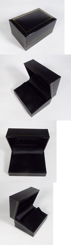 Jewelry Boxes 3820 Wholesale Black Ring Gift Box With Foam And