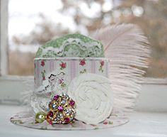 Mini Top Hat   Alice in Wonderland  Pink by LittleLadyAccessory, $24.00