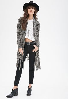 #SALE Tasseled Open-Front Cardigan | Shop the #SALE at #FOREVER21