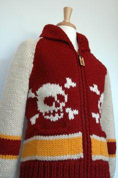 Vulture Japan.  Raglan Skull Red Sweater Vulture, Red Sweaters, Custom Design, Skull, Japan, Knitting, Men, Fashion, Knits