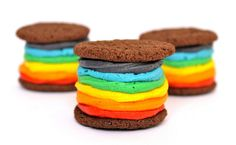 Homemade vegan rainbow Oreos! COLOR US PROUD. And hungry. And proud to be hungry!