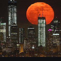 Big Moon over Big Apple....Beautiful!!!