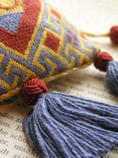 Medieval Silkwork: Progress on a purse
