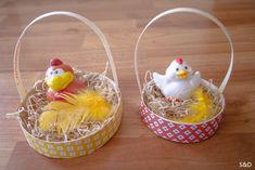 Panier de Pâques avec boîte à camenbert