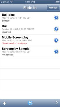 Fade In Mobile - free Screenwriting app for Android & IOS - New York Film Academy - Screenwriting Apps