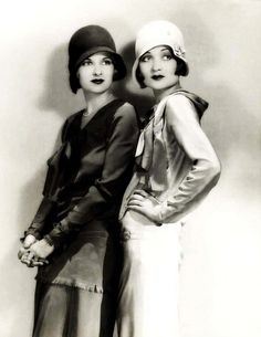 1920's hats.                                                  -Constance and Joan Bennett again