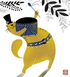 the_cat_band1_by_dinara_mirtalipova.jpg (640×700)