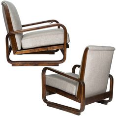 A pair of swedish art deco armchairs circa 1920 39 s armchairs art deco and deco - Deco lounge chique modern ...