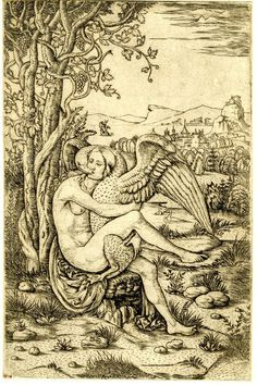 Leda and the Swan. Giovanni Battista Palumba, 1500-1510 (via British Museum)
