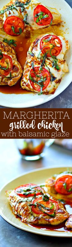 Margherita Grilled Chicken with Balsamic Glaze