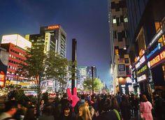 Gangnam Street on Friday night. It was still pretty early #gangnam #gangnamstreet #nightlife #crowds #people #seoul #southkorea #korea #asiatravel #nomsandramblestravels #nomsandrambles #instapassport #instatravel #travelphotography #instadaily #igdaily #instagood
