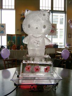 Hello Kitty Ice Sculpture