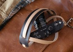 Handmade Leather Camera Strap - Olympus OMD, Fuji x-pro 1, Fuji X100s, Nikon, Sony NEX, Leica M