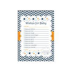 Confetti Baby Shower Wish Card-Well Wishes by AllbyWanda on Etsy