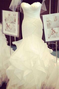 figure fitting wedding dress