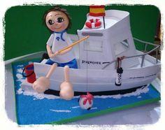 Pescador y barco