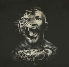 Half animal half human by themcgregorshow_ Conor Mcgregor Wallpaper, Mcgregor Wallpapers, Conner Mcgregor, Ufc Sport, Notorious Conor Mcgregor, Ufc Boxing, Art Of Fighting, Sports Art, Mixed Martial Arts