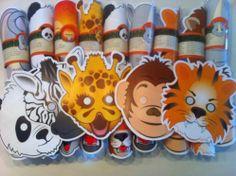 Dieren masker traktatie www.kindertraktaties.jouwweb.nl