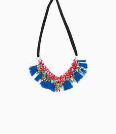 Fringed necklace with bow fastening - View all - Accessories - WOMAN | ZARA Serbia
