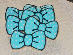 Bow Tie Sugar Cookies - 1 Dozen Cookies by KimsCountryCorner on Etsy
