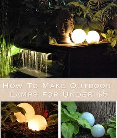 How To Make Outdoor Lamps for Under $5
