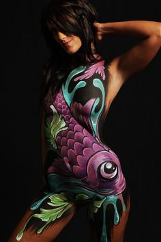 camouflage body painting | ... to pursue art but never knew it would be in the form of body paint i