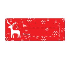 Download this Red Rudolph Mailing Label and other free printables from MyScrapNook.com