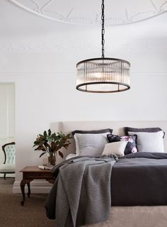 The Beacon Lighting Corbelle 4 light pendant in antique black #bedroom #ceiling #lights #home #decor #designs #ideas